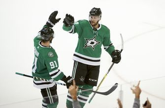 Stars score 4 on 30 shots in 2nd period, beat Ducks 5-3