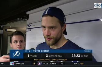 Victor Hedman discusses his return, takeaways from Lightning's loss to Senators