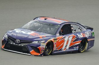 Hamlin starts 1st, Busch takes lead at Consumers Energy 400
