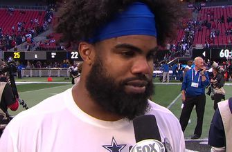 Ezekiel Elliott talks to Pam Oliver about his big game and the Cowboys' 'gritty' Week 11 victory