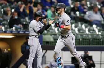 Corey Dickerson goes 3-for-5 with three RBI, Marlins beat Brewers, 8-0