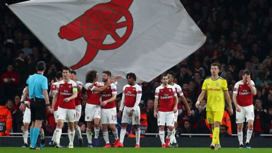 Arsenal cruise past BATE Borisov to advance in Europa League
