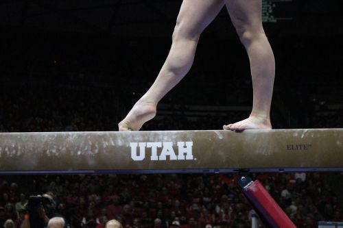 Do you hear it? Utah gymnasts add personal touch to beam