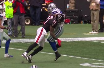 Watch Julio Jones deliver a bone-crushing hit to break up an interception