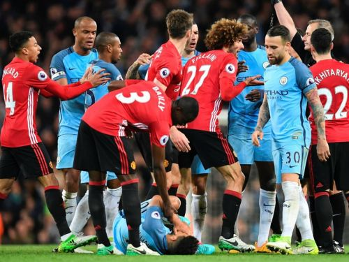 'His face is as nice as always' - Mourinho still angry at Aguero for Fellaini red card