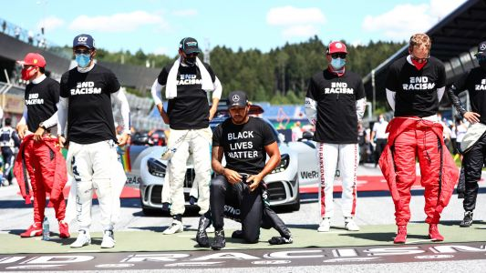 F1 drivers split over anthem kneeling, how to fight racism: 'Silence is generally complicit'