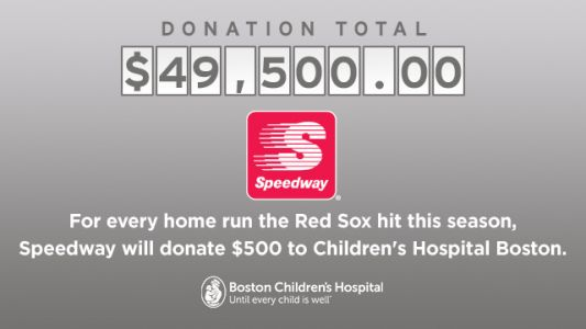 Speedway Donates $500 To Boston Children's Hospital For Each Red Sox Home Run