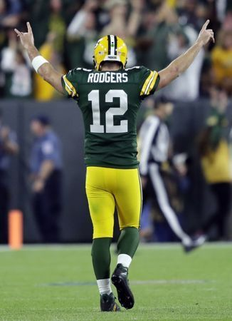 Packers QB Rodgers questionable for Vikings