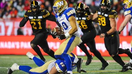 1st CFL game since 2019 a Blue Bombers-Tiger-Cats Grey Cup rematch