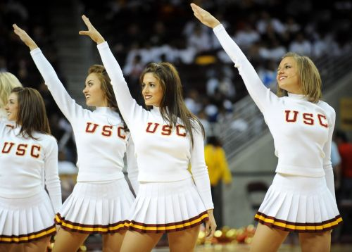 Why aren't USC's traditional Song Girls cheerleading at basketball games this season?