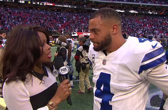 'This is huge for us': Dak Prescott is fired up after leading the Cowboys to a win against the Falcons