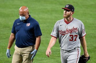 Stephen Strasburg exits early with injury, Nationals snap Orioles six-game winning streak