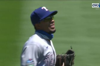 WATCH: Elvis Andrus Makes a Diving Grab in the 2nd