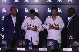 Meet the newest members of the Miami Marlins: Victor Victor Mesa and Victor Mesa Jr