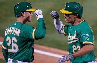 Matt Olson launches fourth homer of the season in 6-4 Athletics win over Rangers