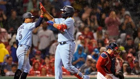 Guerrero hits 3-run homer out of Fenway as Blue Jays rout Red Sox